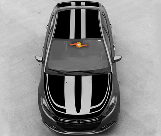 DODGE DART 2013-2020 OVER THE TOP DOUBLE ACCENT STRIPES