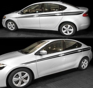 DODGE DART 2013-2018 JAVELIN SIDE ACCENT DOUBLE STRIPES