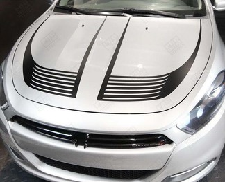 DODGE DART 2013-2018 HOOD ACCENT STROBE STRIPES