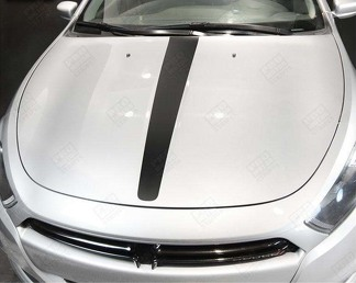 DODGE DART 2013-2018 HOOD CENTER ACCENT STRIPES