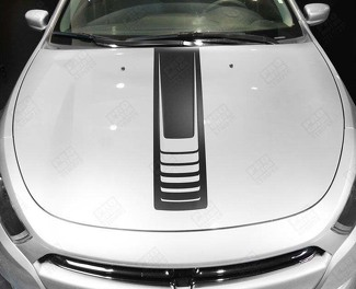DODGE DART 2013- 2018 HOOD CENTER ACCENT STRIPES
