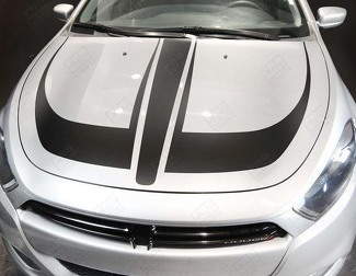 DODGE DART 2013-  2018 HOOD ACCENT STRIPES