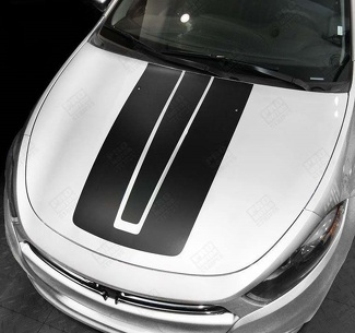 DODGE DART 2013  -2018 HOOD ACCENT STRIPES