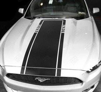 FORD MUSTANG 2005 -2017 HOOD ACCENT DECALS SPORT STRIPES
