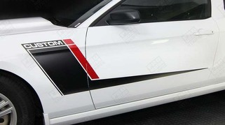 FORD MUSTANG 2005-2014 DUO COLOR SIDE ACCENT STRIPES RSH2