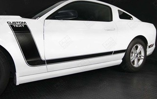 FORD MUSTANG 2005- 2014 BOSS 302 STYLE SIDE STRIPES