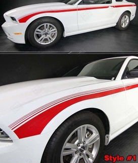 FORD MUSTANG 2013-2014 JAVELIN SIDE STROBE STRIPES