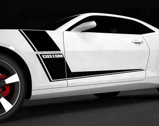 CHEVROLET CAMARO 2010-2015 RACING SIDE HOCKEY STRIPES DECAL