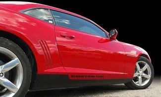 CHEVROLET CAMARO 2010-2015 LOWER ROCKER PANEL BLACKOUT STRIPES