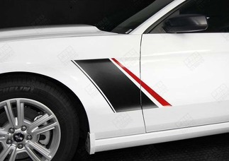 FORD MUSTANG 2005-2017 DUO COLOR FENDER SIDE STRIPES RSH3