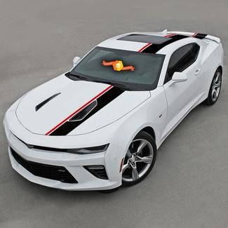 CHEVROLET CAMARO 2016-2018 TOP OFFSET Vinyl STRIPES HOOD, ROOF & REAR
