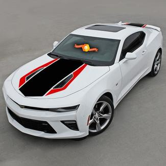 CHEVROLET CAMARO 2016-2018 (SS) FRONT AND REAR 2-TONE Vinyl STRIPES