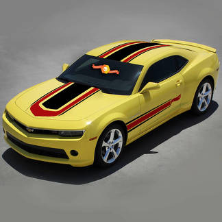 CHEVROLET CAMARO 2010-2015 HOT WHEELS STYLE TOP AND SIDE 2 COLORS STRIPES