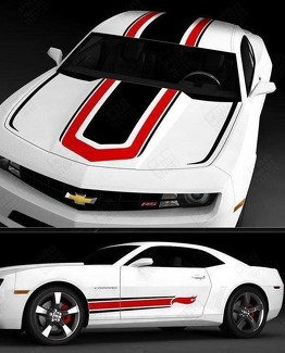 CHEVROLET CAMARO 2010-2015 HOT WHEELS STYLE TOP AND SIDE STRIPES
