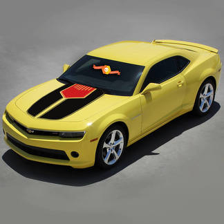 CHEVROLET CAMARO 2010-2015 TWO TONE HOOD ACCENT 2 COLORS STRIPES