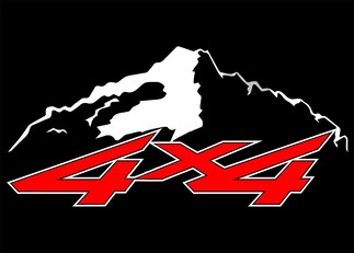 4X4 OFFROAD 2 COLOR SNOWCAP VINYL DECAL FITS:CHEVY GMC DODGE FORD NISSAN TOYOTA