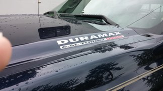 DURAMAX 6.6L Turbo Diesel Hood Decals - New Two Color Decal Design