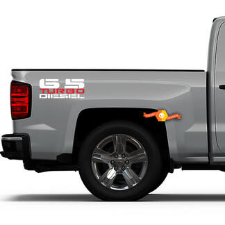 6.5L Turbo Diesel Bedside Decals - New Decal Design Fits: Chevy GMC Trucks Suburban Blazer Yukon Hummer H1