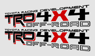 TRD 4X4 OFF ROAD v10 decals stickers Toyota sport truck sticker graphics oem replacement Tacoma Tundra 4runner