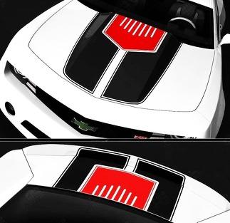 CHEVROLET CAMARO 2010-2015 HOOD & TRUNK STRIPES W/ CENTER INSERT