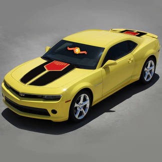 CHEVROLET CAMARO 2010-2015 HOOD and TRUNK STRIPES with CENTER INSERT