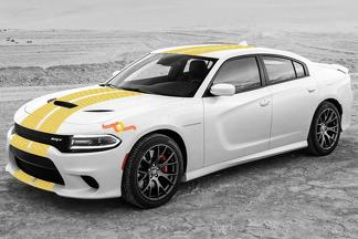 2015 & Up Dodge Challenger SRT / HELLCAT Style Honeycomb Rally Stripe Decal Kit