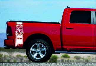 DODGE RAM HEMI 5.7L/6.4L 2x Decals for 1500 2500 3500 vinyl body stripe sticker