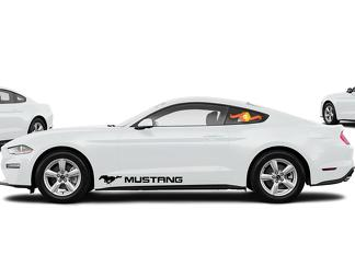 FORD MUSTANG 2X side vinyl body decals car sticker logo graphics emblem logo