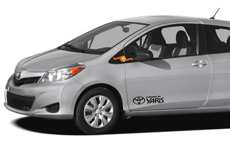 TOYOTA YARIS powered by 2x side door vinyl body decal sticker graphics