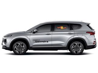 Hyundai Santa Fe 2x side stripes graphics vinyl body decals racing sticker logo