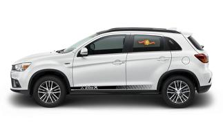 MITSUBISHI ASX 2x side stripes body decal vinyl graphics sticker hight quality