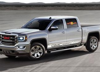 GMC SIERRA 2x Racing Stripes graphics vinyl quality body decal sticker logo