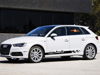 Audi A3 A4 A5 A6 A8 Q7 S4 S5 S6 RS4 RS5 RS6 2x body Decals stripes sticker logo