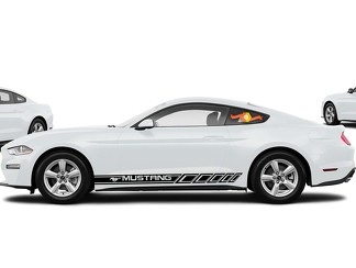 FORD MUSTANG -2x side stripes vinyl body decal sticker graphics premium quality
