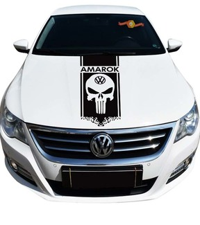 Volkswagen AMAROK 1x stripes hood graphics vinyl hood decal sticker emblem logo