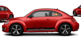 Volkswagen Beetle Turbo 2x side stripes vinyl body decals sticker emblem logo