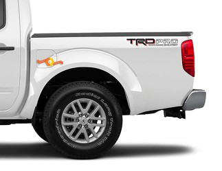 2x TRD PRO Toyota Racing Development Tacoma Tundra Bed Side Vinyl Decal Sticker 2 Colors