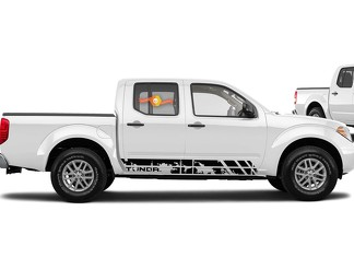 Decal Sticker Side Stripe Kit For Toyota Tundra 2007 2009 2010 2014 2016 Offroad Bedskirts distressed vinyl