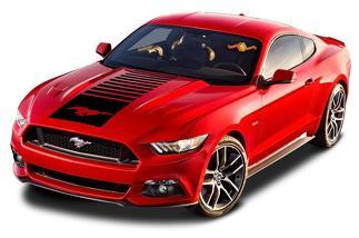 Ford Mustang Centre Hauben Pferd Vinyl Aufklerber Grafik Streifen 2010-2020