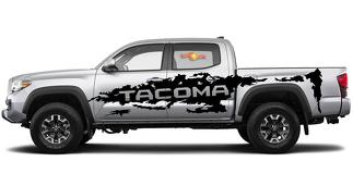 TOYOTA TACOMA VINYL SIDE LARGE DECAL STICKER GRAPHICS STRIPE 2016-2019
