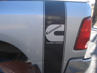 DECALS Truck CUMMINS TURBO DIESEL Bed 2 STRIPE Vinyl Sticker#1