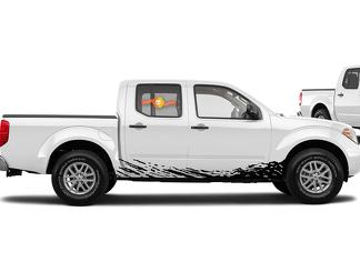 2 Decal Sticker Vinyl Door Mud Splash for Toyota Tundra Flap Side Step Roof Rack