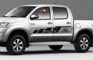 TOYOTA HILUX 2x body decal side vinyl Compass graphics racing sticker logo hight quality