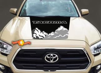 Toyota Tacoma Truck Center Hood  Mountain Graphic Sticker Decal 2016-2017