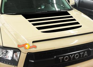 TOYOTA TUNDRA TRUCK 2014-2018 BLACKOUT VINYL HOOD STRIPES DECAL