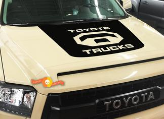 Toyota Tundra Trucks Logo Blackout hood vinyl decal 2014-2018