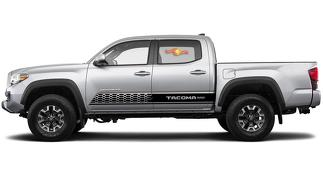 2X Toyota Tacoma 2016-2018 side skirt Vinyl Decals graphics rally sticker kit