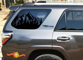 Outdoor Scene Forest Trees Windshield Decal Stickers 2010-2020 Toyota 4Runner TRD PRO windows