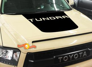 TOYOTA TUNDRA TRUCK 2014-2018 BLACKOUT TUNDRA LETTERING VINYL HOOD DECAL