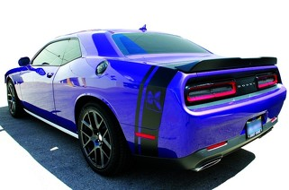 Dodge Challenger side and tail band Scat Pack HELLCAT Super Bee Decal Sticker graphics fits to models 2018